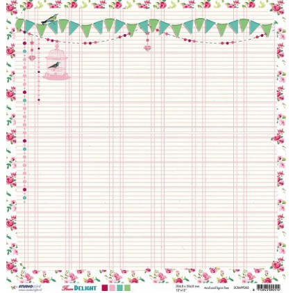 Papier do tworzenia kartek i scrapbookingu - Studio Light - Flower Delight - SCRAPFD02