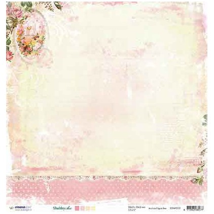 Papier do tworzenia kartek i scrapbookingu - Studio Light - Shabby chic - SCRAPSC01