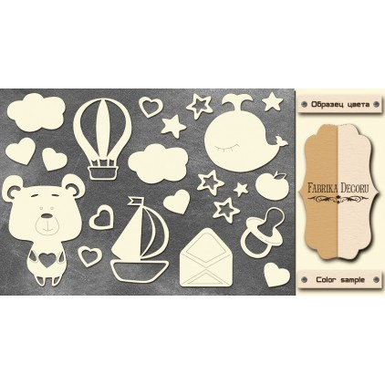 Set of cardboard - Chipboard - Fabrika Decoru -Sweet baby boy - 2- FDCH 112