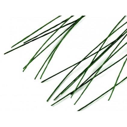 Drut florystyczny - Ø 0,6 - 40 cm - zielona paproć