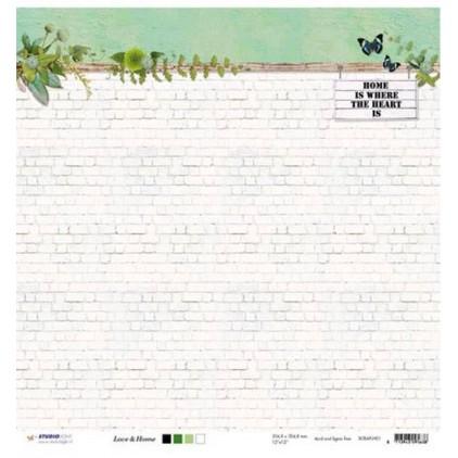 Scrapbooking paper - Studio Light - Love & Home - SCRAPLH01