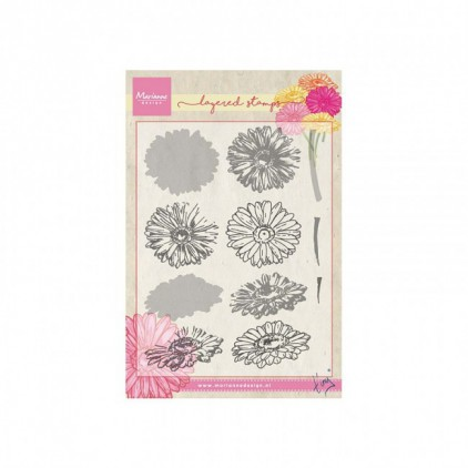 Set of clear stamps - Marianne Design - Tiny's gerbera - TC0853