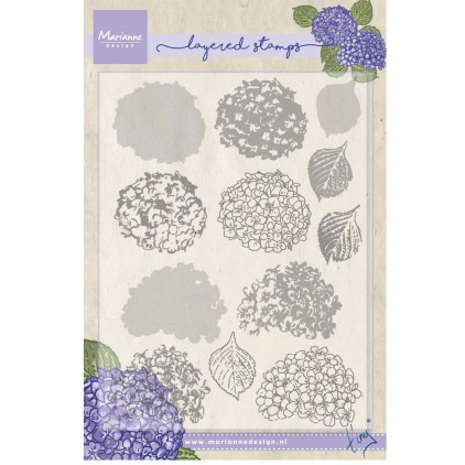 Set of clear stamps - Marianne Design - Tiny's hydrangea - TC0854