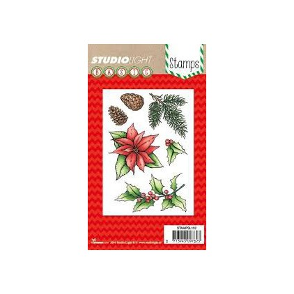 Set of clear stamps - Studio Light - A6 Layered poinsettia - STAMPLS152