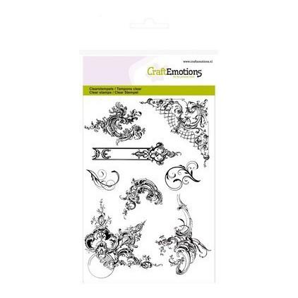 Stemple / pieczątki - CraftEmotions - A6- ornamenty - 130501/1142