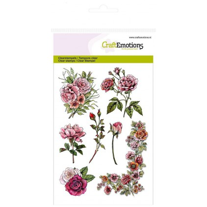 Set of clear stamps - CraftEmotions - A6 - Botanical Rose Garden 1 - 130501/1240