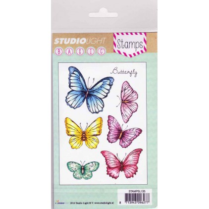 Set of clear stamps - Studio Light - A6 - Butterfly - STAMPSL135