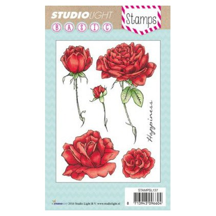Stemple / pieczątki - Studio Light - A6 - Roses - STAMPSL137
