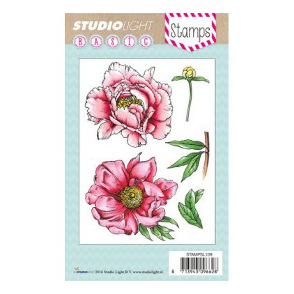 Set of clear stamps - Studio Light - A6 - Peony - STAMPSL139