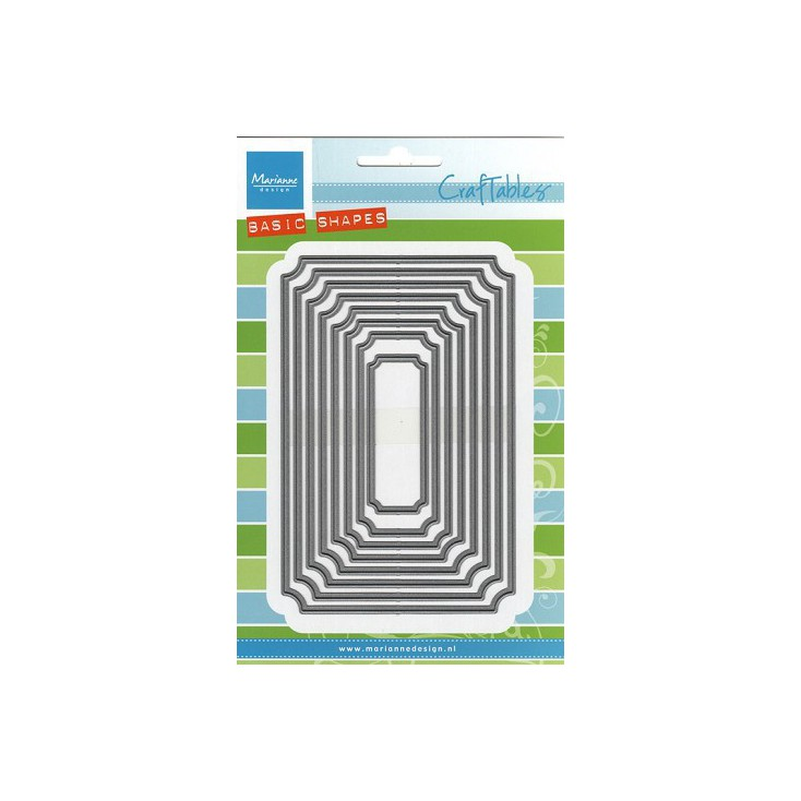 Wykrojniki Classic square- Marianne Design CraftTables - CR1404
