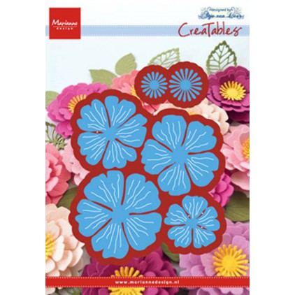 Die-cut- Beautiful flower- Marianne Design CraftTables - LR0546