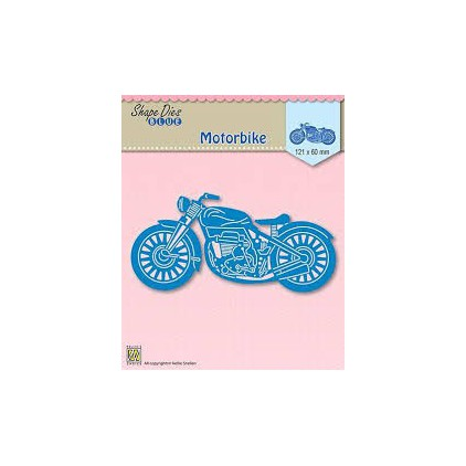 Die-cut- Nellies Choice - Blue motorbike - SDB001