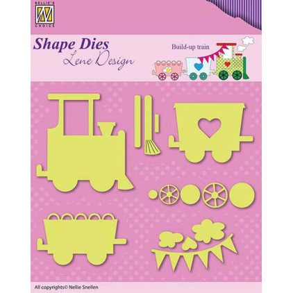 Die-cut- Nellies Choice - Build up train - SDB033