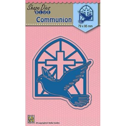Die-cut- Nellies Choice - Blue Cross - SDB005