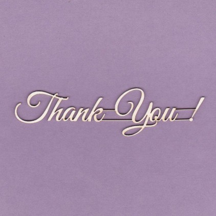 Thank you ! inscription - laser cut, chipboard - Crafty Moly 475