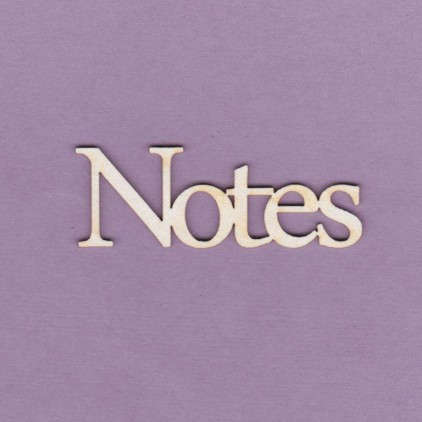 Notes napis - tekturka - Crafty Moly 617