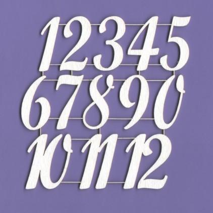 Cyfry 3 tekturka 3 cm - Crafty Moly 901