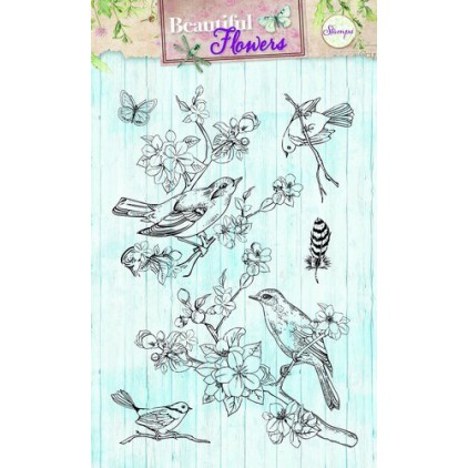 Set of clear stamps - Studio Light - A6 - Beautiful Flowers - STAMPBF140