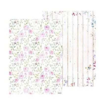Papier do tworzenia kartek i scrapbookingu A4- Studio Light - Beautiful Flowers - BASISBF218