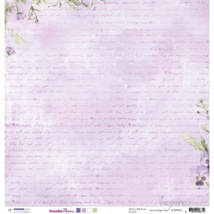 Papier do tworzenia kartek i scrapbookingu - Studio Light - Beautiful Flowers - SCRAPBF02