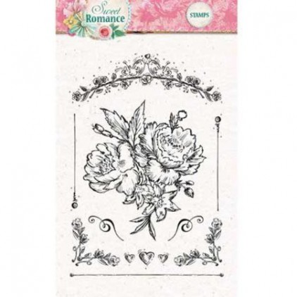 Set of clear stamps - Studio Light - A6 -Sweet Romance - STAMPSR128