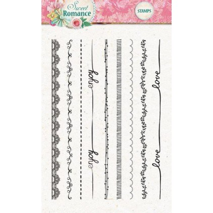 Set of clear stamps - Studio Light - A6 -Sweet Romance - STAMPSR130