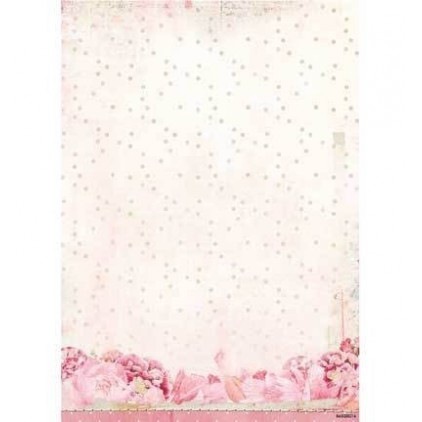 Papier do tworzenia kartek i scrapbookingu A4- Studio Light - Beautiful Flowers - BASISSR214