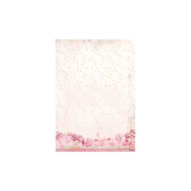 Papier do tworzenia kartek i scrapbookingu A4- Studio Light - Beautiful Flowers - BASISSR215