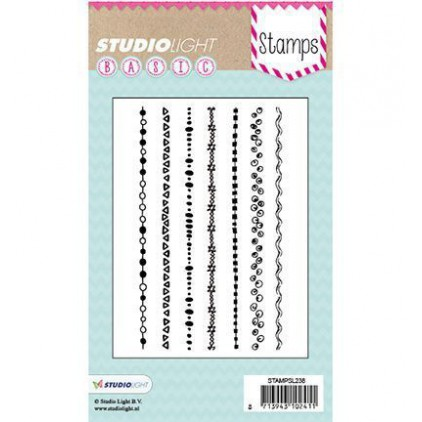 Stemple / pieczątki - Studio Light - A6 Basic - mixed media stamps - STAMPSL275