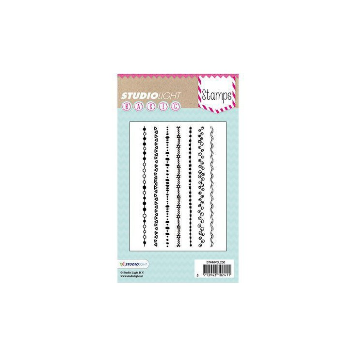 Stemple / pieczątki - Studio Light - A6 Basic - mixed media stamps - STAMPSL275