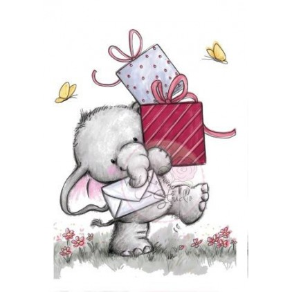 Set of clear stamps - Wild Rose Studio - Mice with Balloons CL285