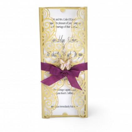 zaproszenie - wykrojniki do papieru - Sizzix - Thinlits - 661879 - Invitation wrapper