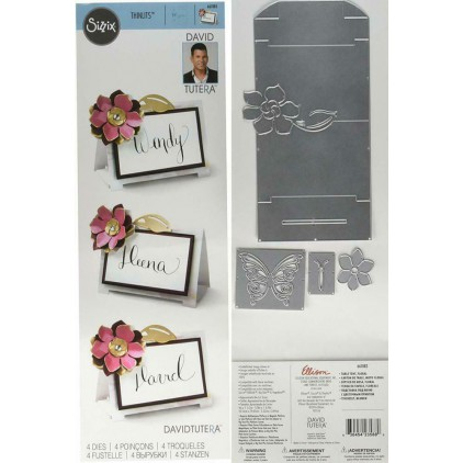 Die cut - Sizzix - Thinlits - 661883 - Table tent, floral