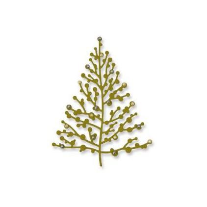 drzewko świąteczne - wykrojniki do papieru - Sizzix - Thinlits - 661729 - Treetops glisten