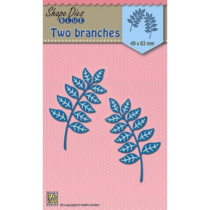 Die-cut- Nellies Choice - Two branches - SDB022