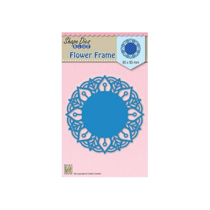 Die-cut- Nellies Choice - Round lace-flower frame - SDB025