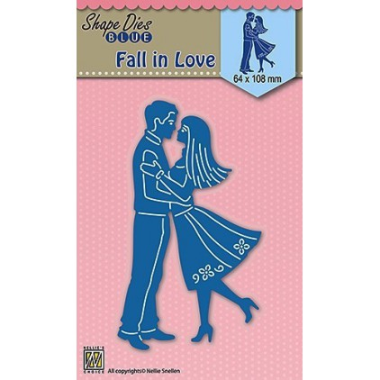 Die-cut- Nellies Choice - Fall in love - SDB031