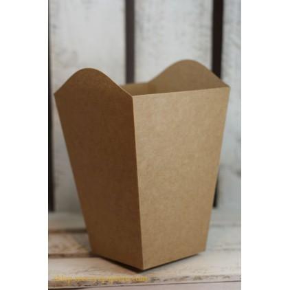 Pudełko typu popcorn - kraft - Rzeczy z Papieru