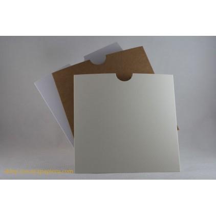 Kieszonka na tekst 15x 15 kremowa - Rzeczy z Papieru