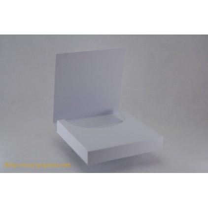Czekoladownik mini kwadratowy 10x10x1,8 biały - Rzeczy z Papieru