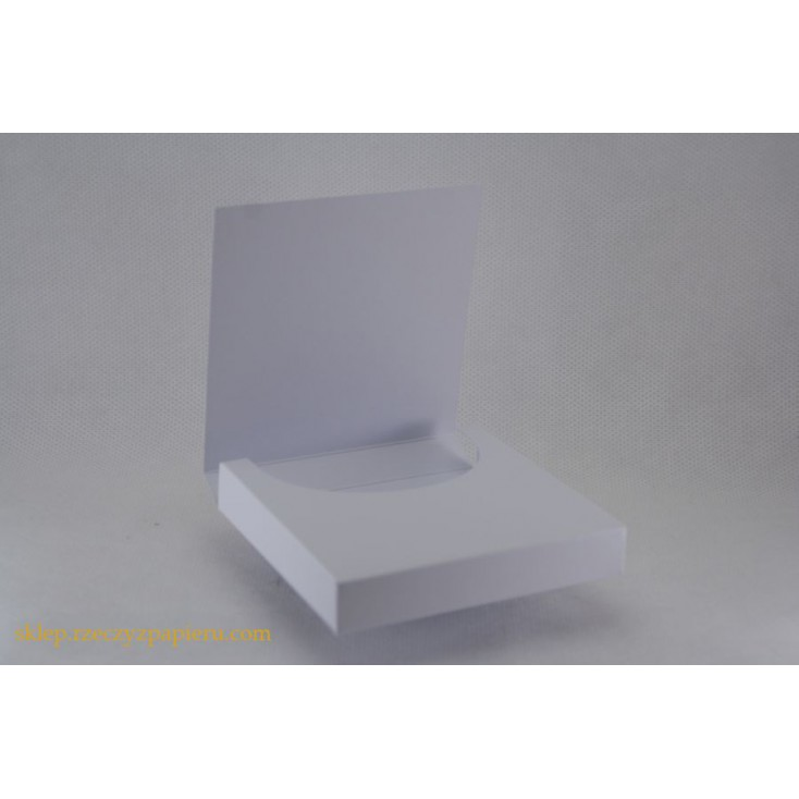 Box for chocolate, chocolatier 9x19x1,7 white- Rzeczy z Papieru