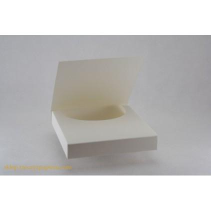 Czekoladownik mini kwadratowy 10x10x1,8 kremowy - Rzeczy z Papieru