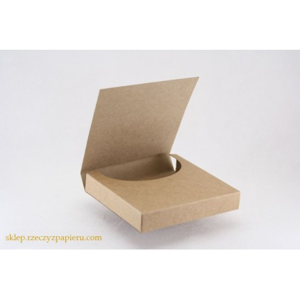 Box for chocolate mini, chocolatier 10x10x1,8 cream- Rzeczy z Papieru