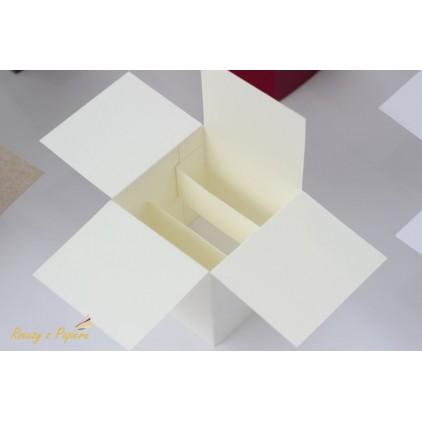 Pudełko pop up 7x7x14 kremowe - Rzeczy z Papieru