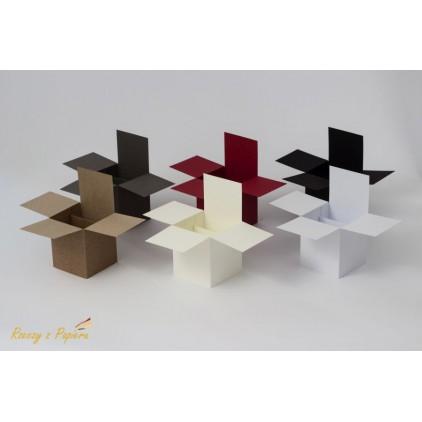 Pop up box - 7x7x14 kraft - Rzeczy z Papieru