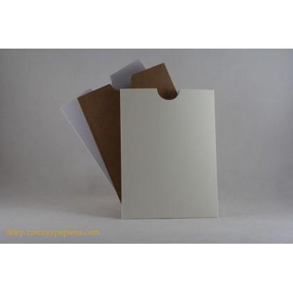 Kieszonka na tekst 10,5x 14 biała - Rzeczy z Papieru