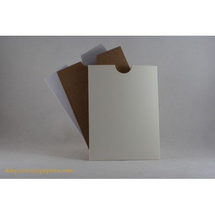 Pocket for text 10,5x 14 white - Rzeczy z Papieru