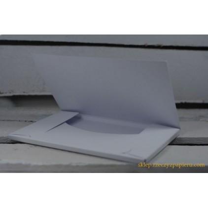 A box for card - 10.5x15x0.6 white - Rzeczy z Papieru
