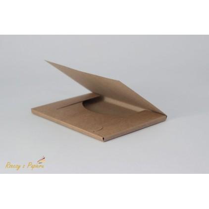 A box for card 10.5x15x0.6 kraft - Rzeczy z Papieru
