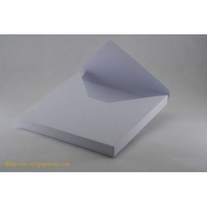 Pudełko/koperta 3D 15x15x1,5 białe - Rzeczy z Papieru